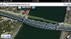 Bourne Bridge Apple Maps
