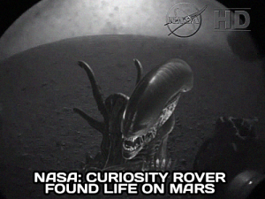 Curiosity finds Alien life?