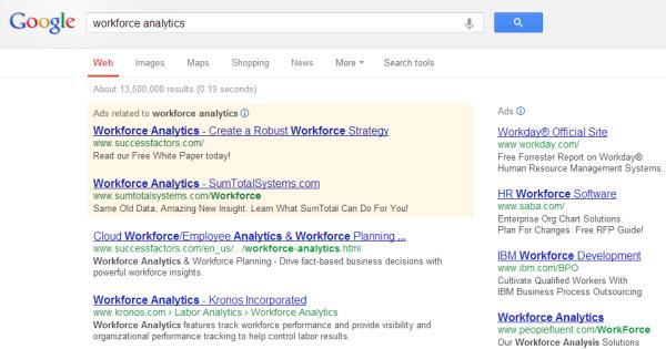 Google search workforce analytics