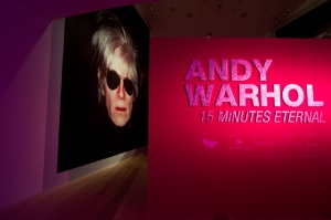 Andy Warhol 15 Minutes Eternal Exhibition Entrance