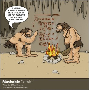 cave-man-social-media