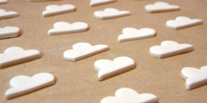 white chocolate clouds