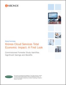 Forrester TEI Kronos Cloud
