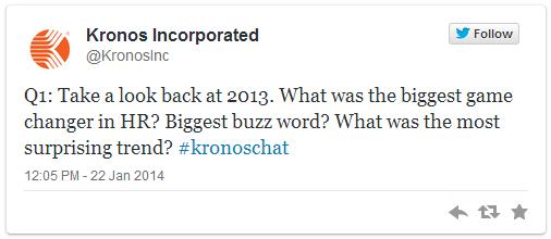 Kronos Tweetchat Q1