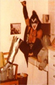 KISS fan in East Stadium dorm - U of Arizona - circa 1977