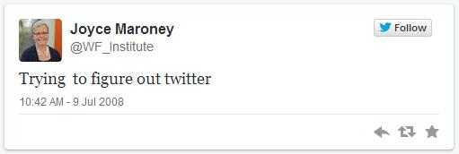 WFI first tweet