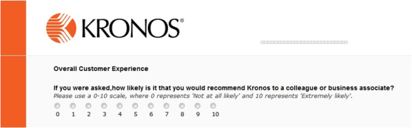 Kronos Relationship Survey
