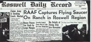 roswell-newspaper_RAAF-captures-flying-saucer