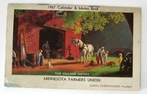 1967-FARMERS-UNION-CARD-PAPER-CALENDAR-MEMO-BOOK-Vintage-3