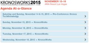 KW2015 Agenda