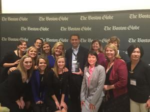 """Kronites with their Boston Globe 2015 """"Top Places to Work Award."""""""