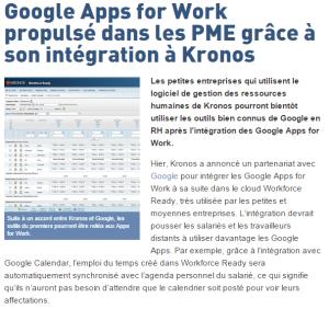 Google and Kronos
