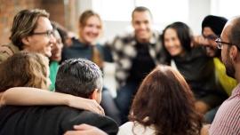 Diverse team building - men and women