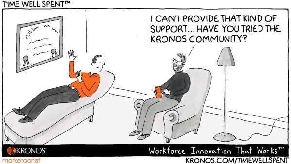 Community Support Cartoon